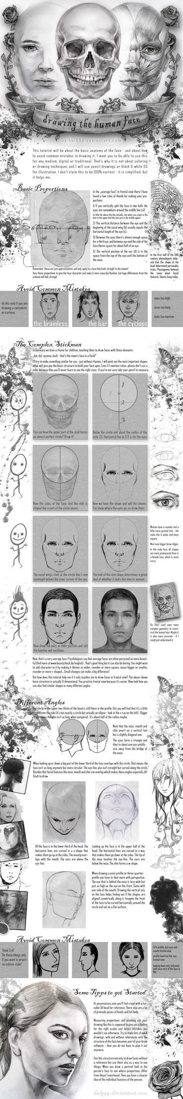 Face Drawing Tutorial by hel999