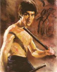 Bruce Lee olor Pastel 1 by monkeydawang