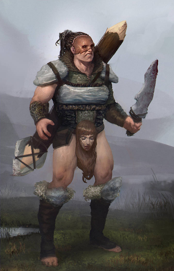 Barbarian wildman by danielcotter