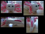 Smudge the Albino Axolotl Plushie by Greenpolarbear47