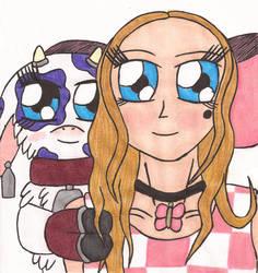 Digimon: Clarissa and Heifermon by Greenpolarbear47