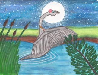 Moonlight Swan by Greenpolarbear47