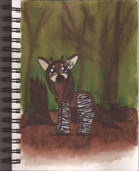 Watercolour Notebook #8: Okapi in MLP Style by Greenpolarbear47