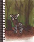 Watercolour Notebook #8: Okapi in MLP Style by Greenpolarbear47