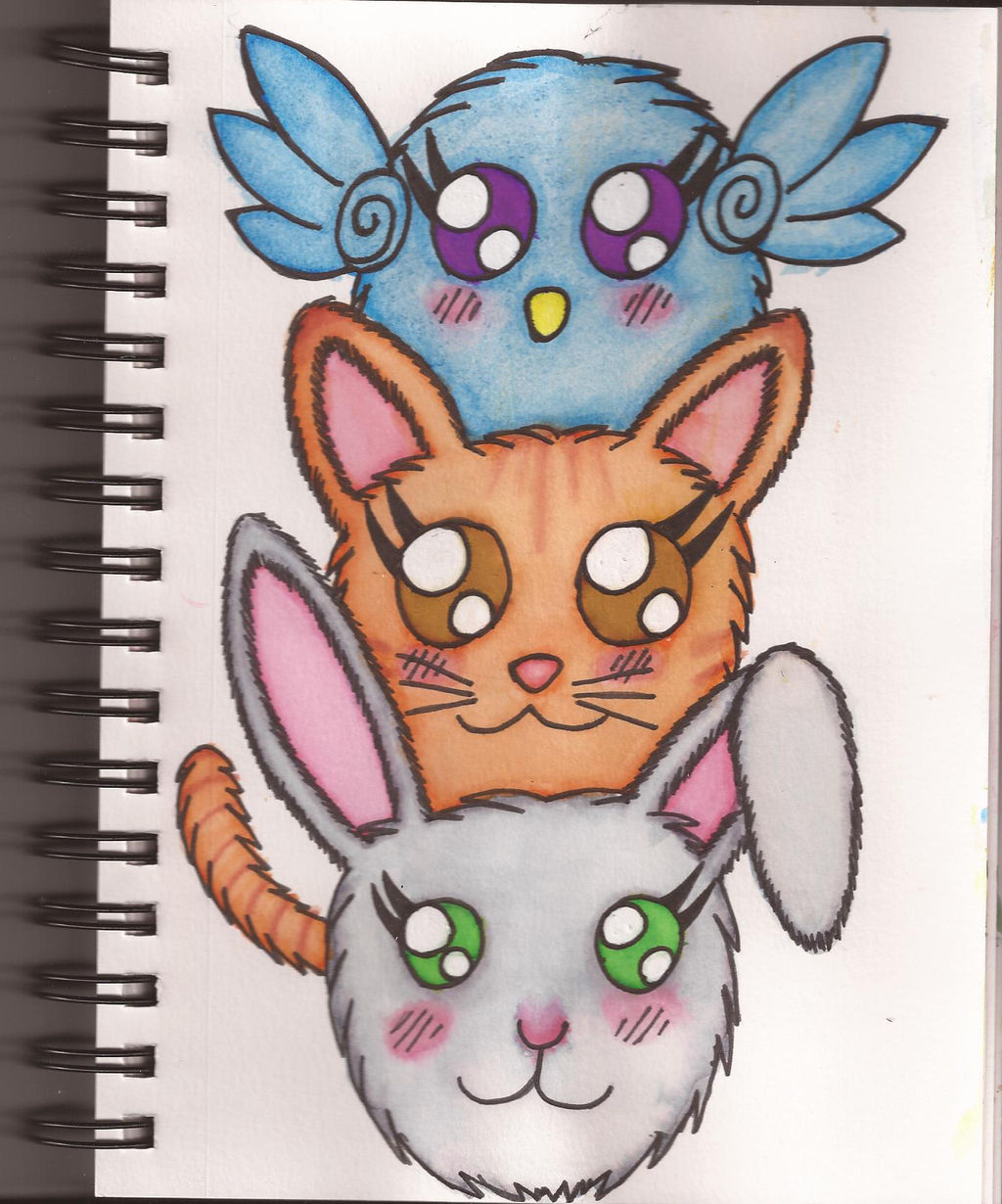 Watercolour Notebook #10: Fluff Tower by Greenpolarbear47