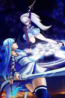 Weiss Schnee vs Asuna Yuuki by J13Productions