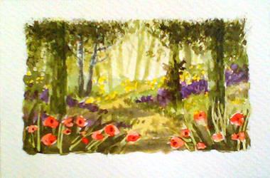 Forest 3 Minicard by Eligius-san