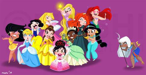 Disney Princesses by mashi