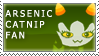 arsenicCatnip Fan Stamp by RyujiDicey