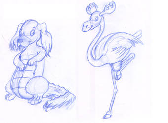 Animal hybrids by NezumiWorks