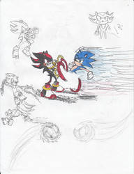 Sonic and Shadow by Dragodonv2