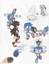 Sonic vs Shadow Splash page by Dragodonv2