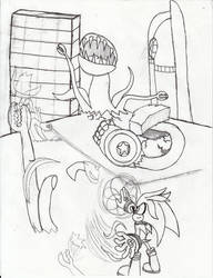 Silver vs the Great Krudzu Hybrid Hydra by Dragodonv2