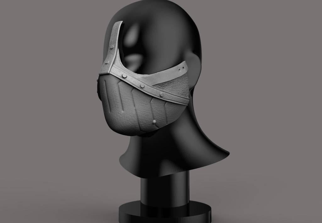 Erron Black mask 3D print concept. by synn1978