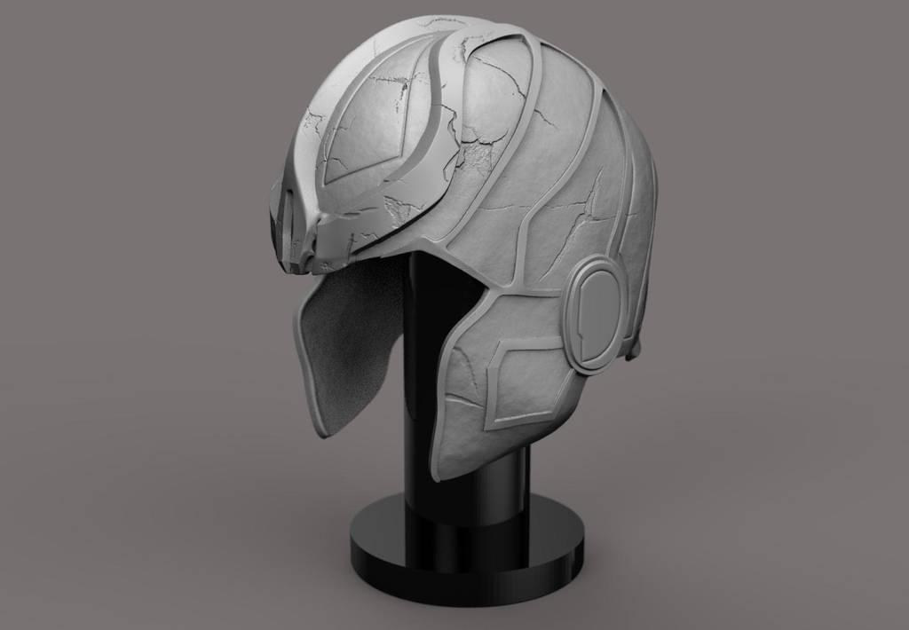 Thanos helmet 3D print concept design. by synn1978