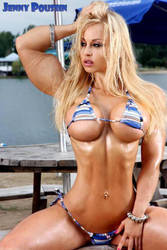 Jenny Poussin muscled by Turbo99