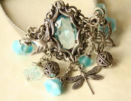 Upcycled Victorian Bracelet by byrdldy