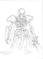 Sketches - Skeleton Warrior by jack0001