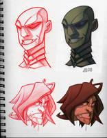 RK Head Sketches by Javas