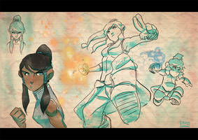 Korra sketches by Javas