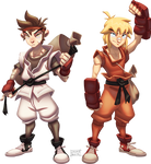 Ryu and Ken by Javas