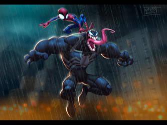 Venom (and Spidey) by Javas