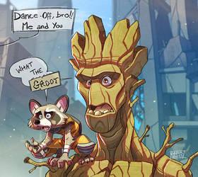 Rocket and Groot by Javas