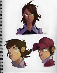 Captain Tsubasa  face sketches by Javas