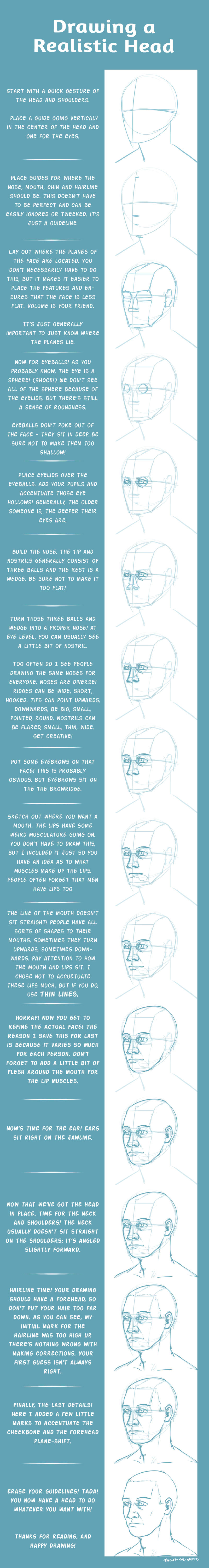 Drawing Realistic Heads - A Guide by Taylor-the-Weird