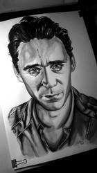 Tom Hiddleston by Andy Gotts watercolour by AlexSpooky