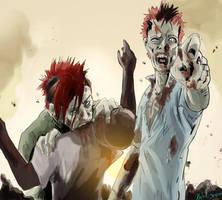 Zombie Klayton + Bret by Akuya-Kyuubi