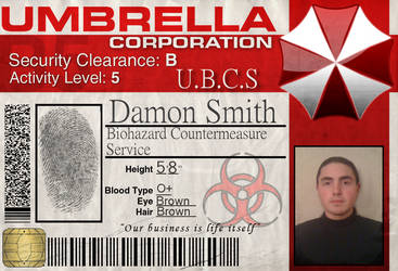 UMBRELLA CORP ID-Richard by christopherfaith