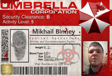 UMBRELLA CORP ID by christopherfaith