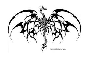 Tribal Dragon Tattoo by ValliantCreations