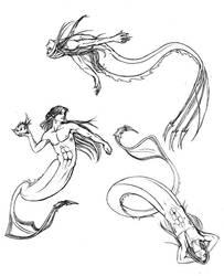 Myric Action Poses by ValliantCreations