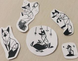 tattoos geometriques renards croquis by MavaN32