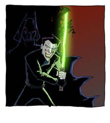 Bat Vader vs Joker...er..Walker? by moobyj