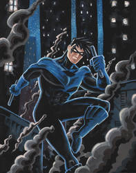 Nightwing Descends by moobyj