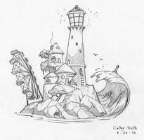 Lighthouse Scene by ColbyBluth