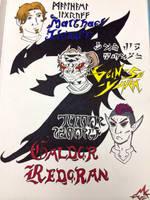 The Three Heroes by MonokromeRain