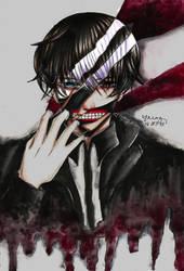 Tokyo Ghoul: ''Who's inside of me?'' by thenzcchi