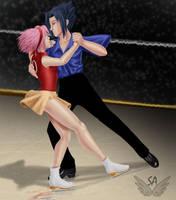 Sasuke and Sakura on Ice by Street-Angel