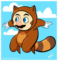 Tanooki Suit Super Mario by Torogoz