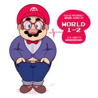 Hipster Mario by Torogoz
