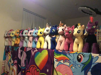 My build a bear my little pony collection update by PlushMaker101