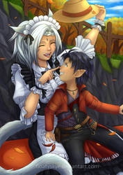[CM] Mel couple commission 1 by FloatySkye