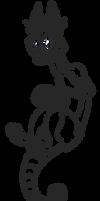 Free line art base - Feline Skullzter by Smallblacksticky