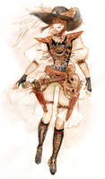 Final Fantasy XIII SteamPunk Lightning - Front by DubuGomdori