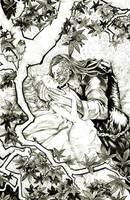 Sandor And Sansa Under Tree by DubuGomdori