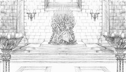 Kings Landing Throne Room by DubuGomdori